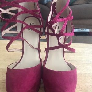 Shoes - Pink/purple wedges